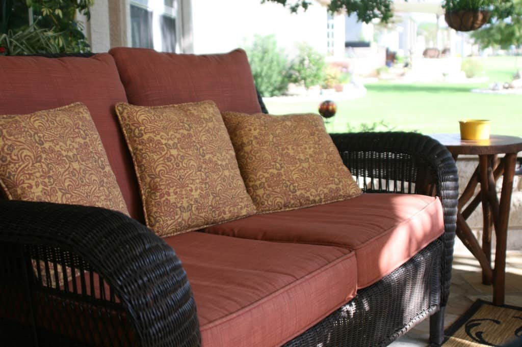 Outdoor Wicker Loveseat