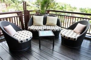 Outdoor Wicker Furniture Grouping