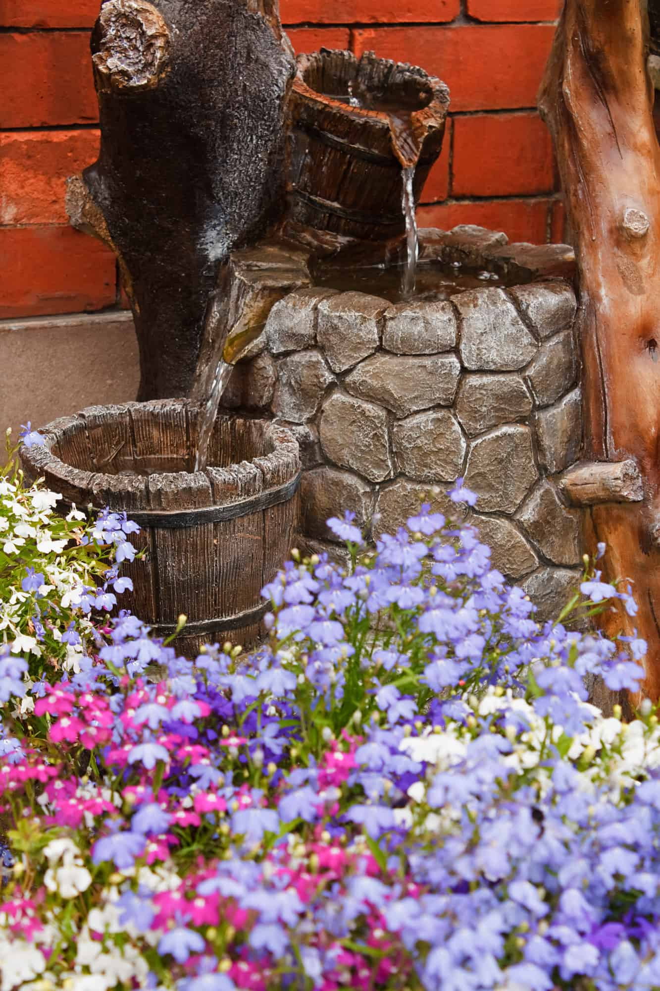 Water Fountain on Patio